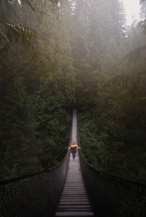 walking in a bridge
