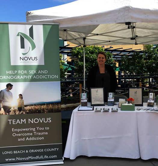 novus employee providing information on working for novus mindful life